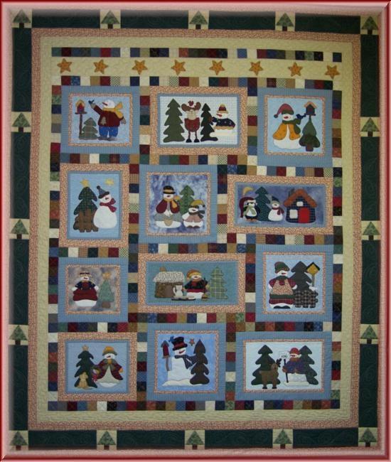 bom snowman collector quilt Snowman Collector Quilt Pattern Gallery