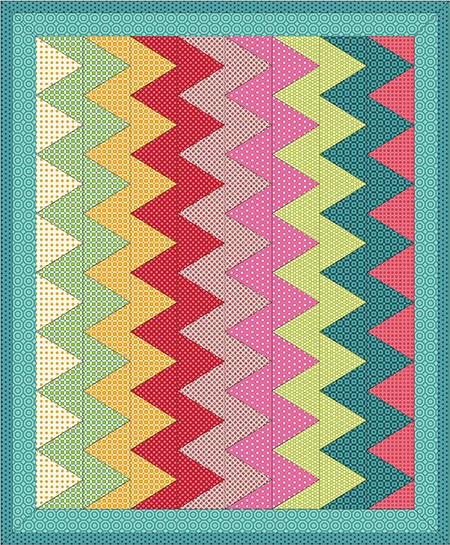 chevron quilts tutorials heart at home heart at home Elegant Chevron Quilt Pattern Using Rectangles