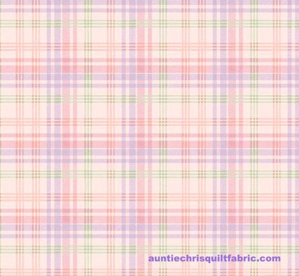 cotton quilt fabric henry glass morning in the garden pink pastel plaid Cool Plaid Quilting Fabric Gallery