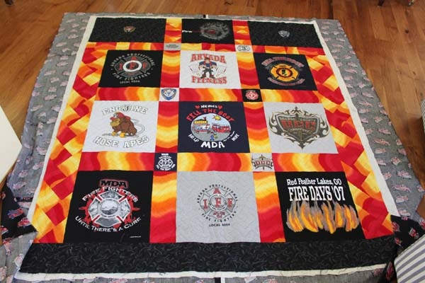 custom quilts t shirt qiilts Cool Firefighter Quilt Patterns
