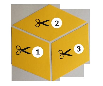 diy tumbling blocks wall art organizedchaosonline Cozy Tumbling Blocks Quilt Pattern Template Gallery