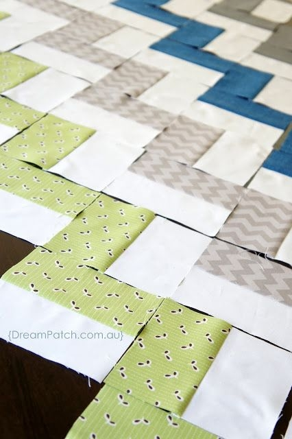 Elegant Chevron Quilt Pattern Using Rectangles