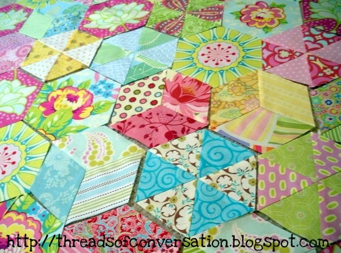 easy hand piecing a tutorial made a brunnette Interesting Hand Piecing Quilt Patterns