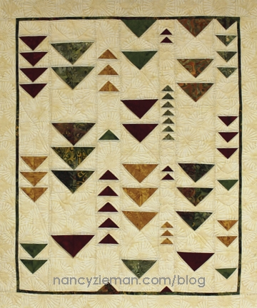 folded flying geese from quick column quilts nancy zieman Interesting Quilting Flying Geese Pattern Gallery