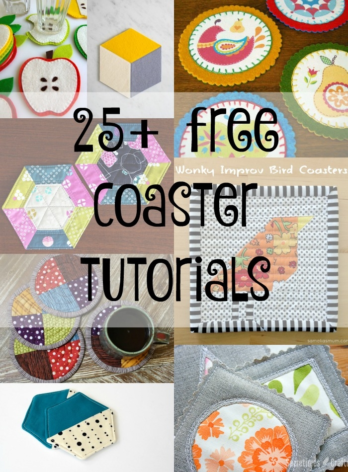 free coaster tutorials patterns for all occasions so sew Interesting Quilted Coasters Pattern Inspirations
