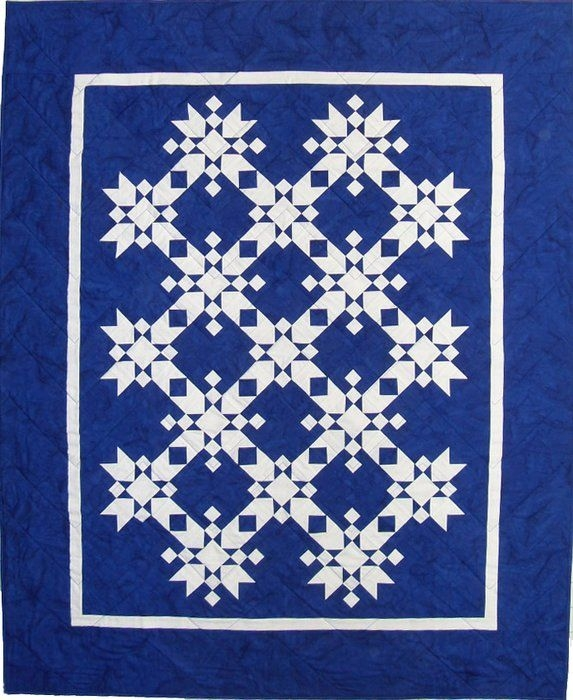 free snowflake quilt patterns magic snowflakes fiber Stylish Snowflake Quilt Patterns