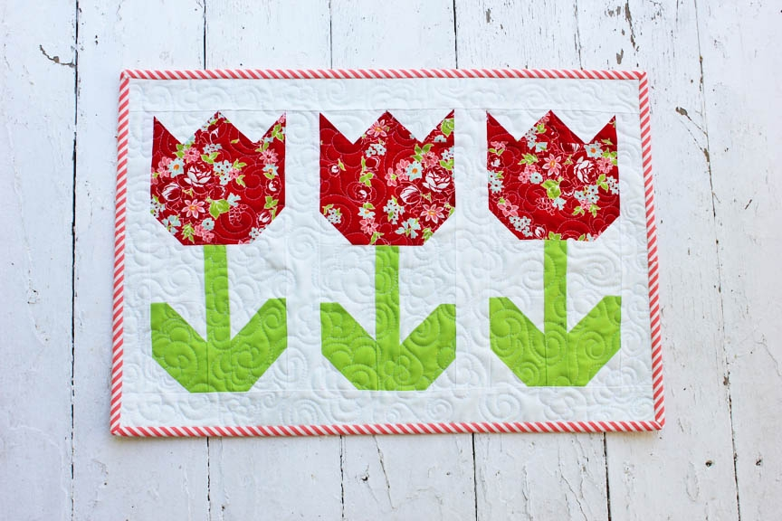 free tulip quilt block tutorial Make A Patchwork Tulip Quilt Block Patterns Gallery