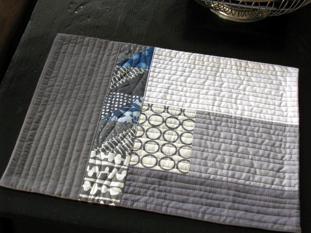 fun and done quilted placemat patterns place mats quilted Stylish Modern Quilted Placemat