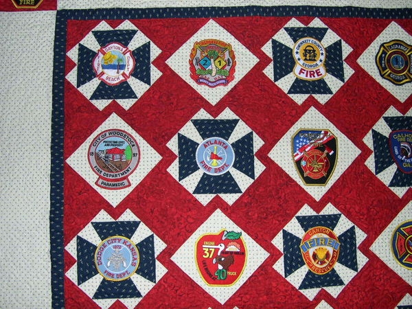 georgia firefighter raffle quilt quiltingboard forums Cool Firefighter Quilt Patterns