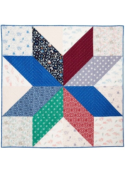giant vintage star quilt jani baker 68×68 peter pan Stylish Giant Vintage Star Quilt Gallery