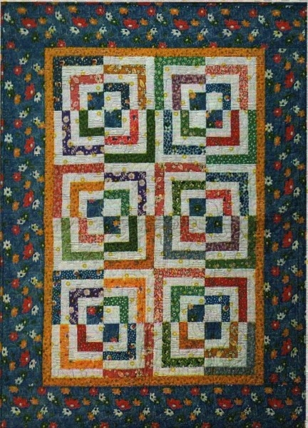 half log cabin quilt pattern cut loose press Half Log Cabin Quilt Pattern