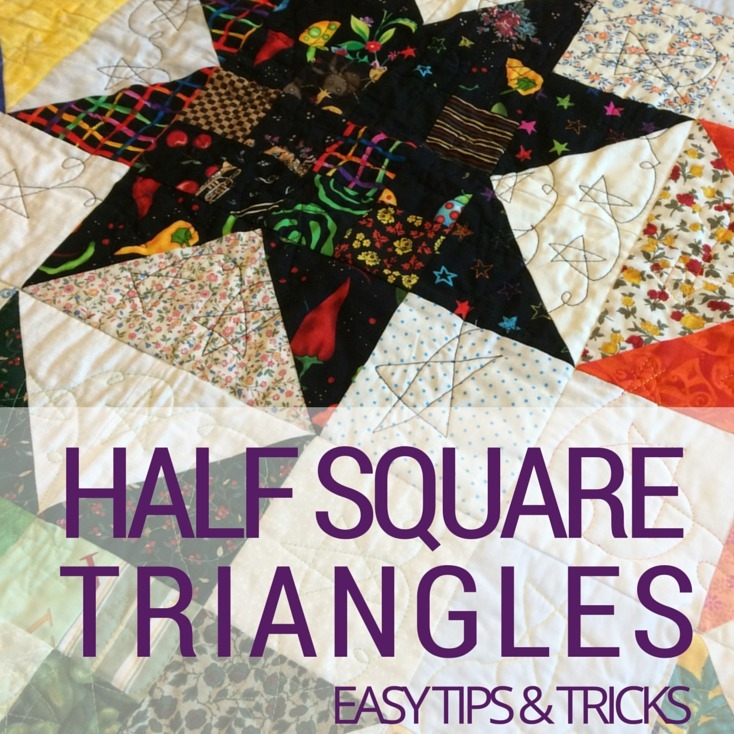 half square triangles quilting basics the sewing loft Modern Quilting Triangles Tips