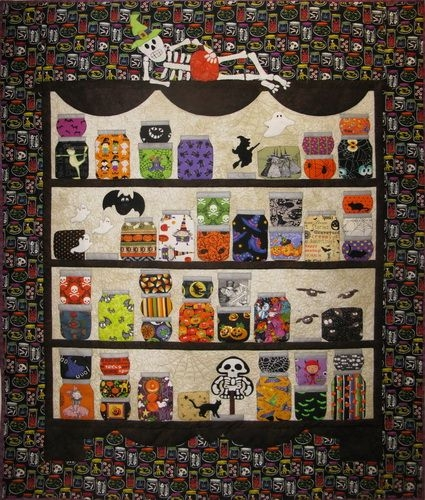 halloween kickoff moosestash quilting halloween quilt Cool Halloween Quilts Patterns Inspirations