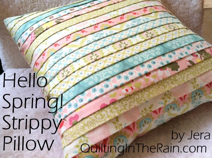 hello spring strippy pillow tutorial quilting in the rain Elegant Quilt Patterns For Pillows Gallery