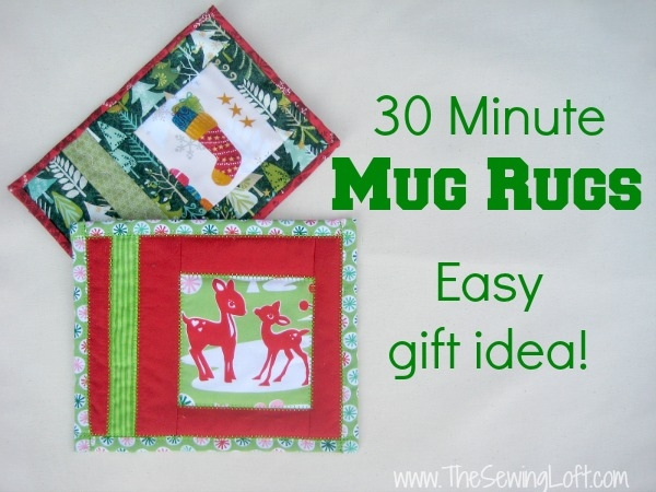 holiday mug rug the sewing loft Modern Quilted Mug Rugs Patterns