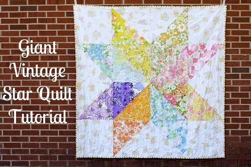 in color order giant vintage star quilt tutorial Stylish Giant Vintage Star Quilt Gallery
