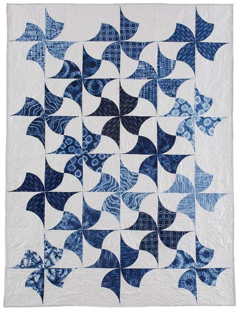 indigo spin quilt fons porter quilts quilt patterns Cozy Fons And Porter Quilt Patterns Inspirations
