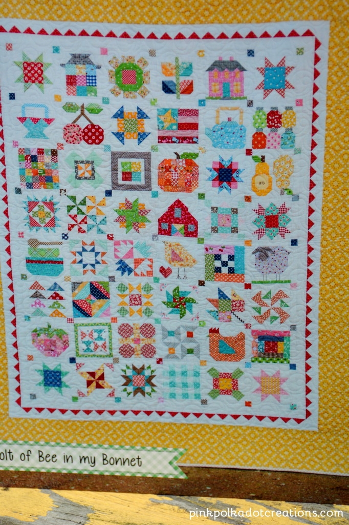 lori holt farm girl vintage book pink polka dot creations Modern Farm Girl Vintage Quilt