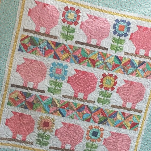 lori holt new farm girl vintage quilt would be very cute Modern Farm Girl Vintage Quilt
