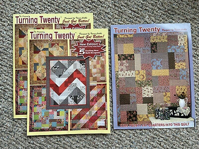 lot 3 turning twenty quilt pattern using fat quarters designed tricia cribbs ebay Cool Turning Twenty Quilt Pattern
