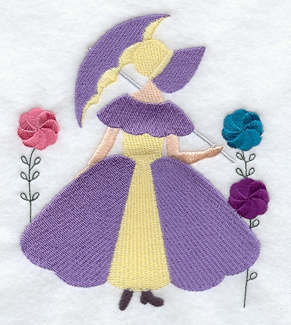 machine embroidery designs at embroidery library Elegant Umbrella Girl Quilt Pattern
