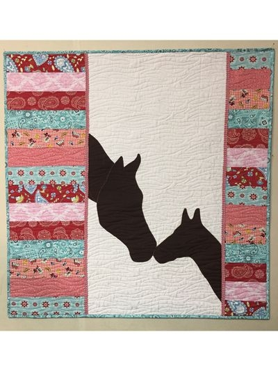 mare and foal quilt pattern applique quilt patterns Modern Horse Baby Quilt Pattern Gallery