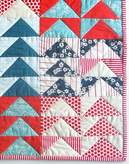 mini quilt of the month july flying geese purl soho Elegant Quilting Flying Geese Pattern Inspirations