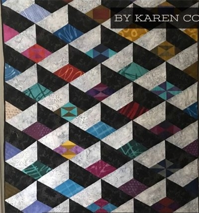 modern attic window quilt pattern karen combs Elegant Attic Window Quilt Pattern