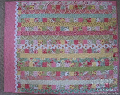 piece n quilt magic ba quilt tutorial Elegant Jelly Roll Baby Quilt Ideas Inspirations