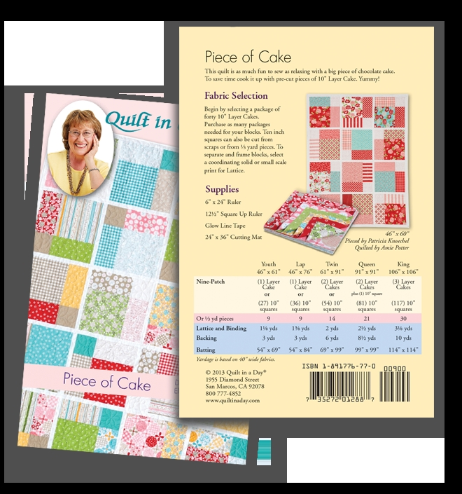 piece of cake eleanor burns signature pattern 735272012887 Piece Of Cake Quilt Pattern Inspirations