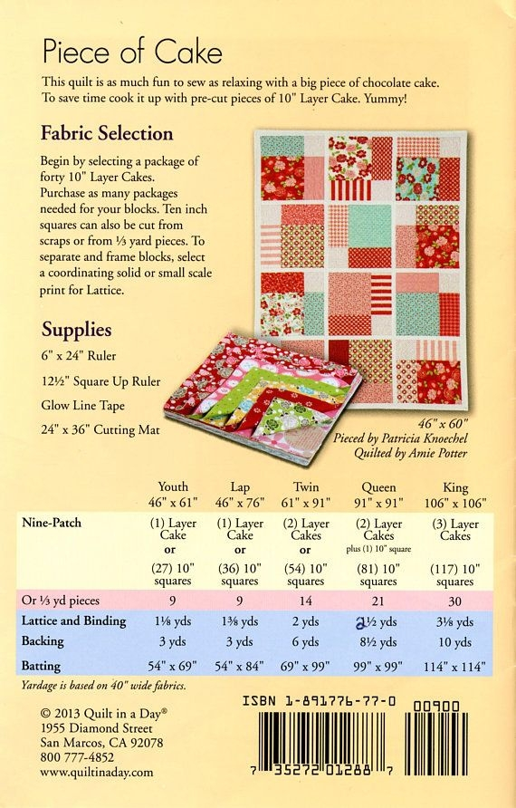 piece of cake quilt pattern quilt in a day eleanor burn Piece Of Cake Quilt Pattern Inspirations