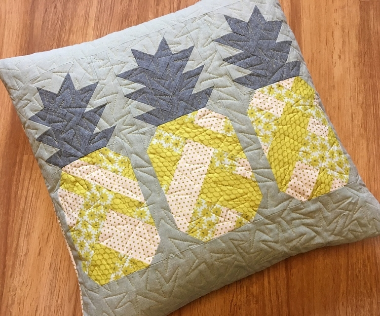 pineapple farm quilt and pillow pattern br elizabeth hartman Cool Quilting Pillow Patterns Gallery