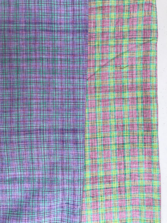 pink and purple woven plaid quilting fabric two 12 yard pieces Cool Plaid Quilting Fabric Gallery