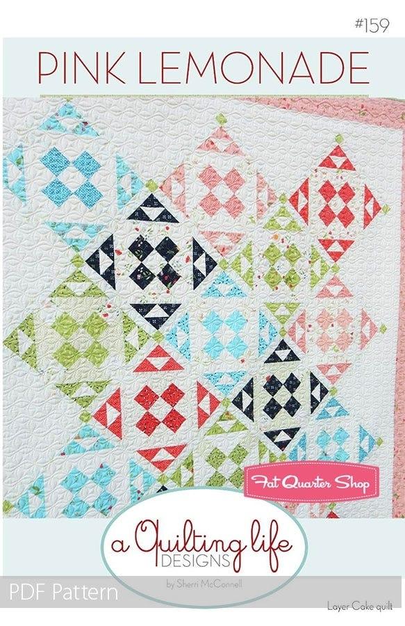 pink lemonade downloadable pdf quilt pattern a quilting life designs Elegant Pink Lemonade Quilt Pattern