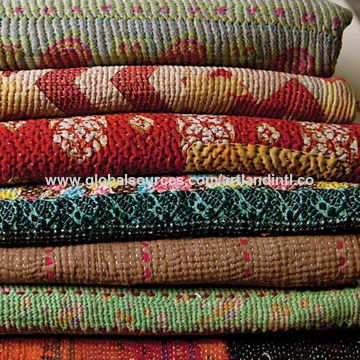 quality vintage kantha quilt indian reversible pure cotton Stylish Vintage Kantha Quilt Gallery
