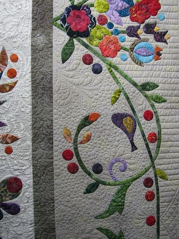 quiltappliquevines great applique border pattern is Cozy Hand Applique Quilt Patterns