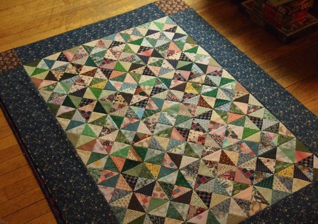 quiltwrapup quarter square triangle top Modern Quarter Square Triangle Quilt Inspirations