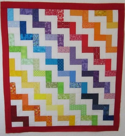rainbow chevron tutorial fq jelly roll charm friendly Stylish Chevron Quilt Pattern Using Jelly Roll