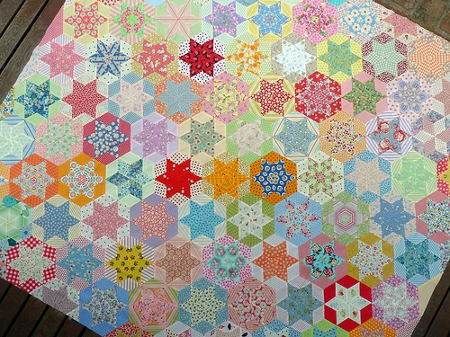 red pepper quilts hand pieced hexagon quilt Interesting Hand Piecing Quilt Patterns