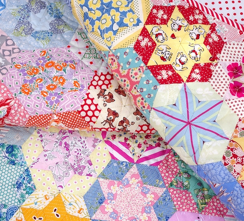 red pepper quilts hand pieced hexagon star quilt Interesting Hand Piecing Quilt Patterns