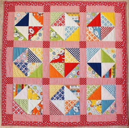 retro quarter square triangles quilt Modern Quarter Square Triangle Quilt Inspirations