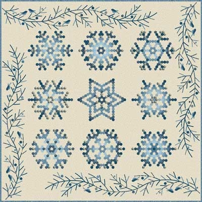 sale edyta star snowflake quilt pattern thediyaddict Stylish Snowflake Quilt Patterns