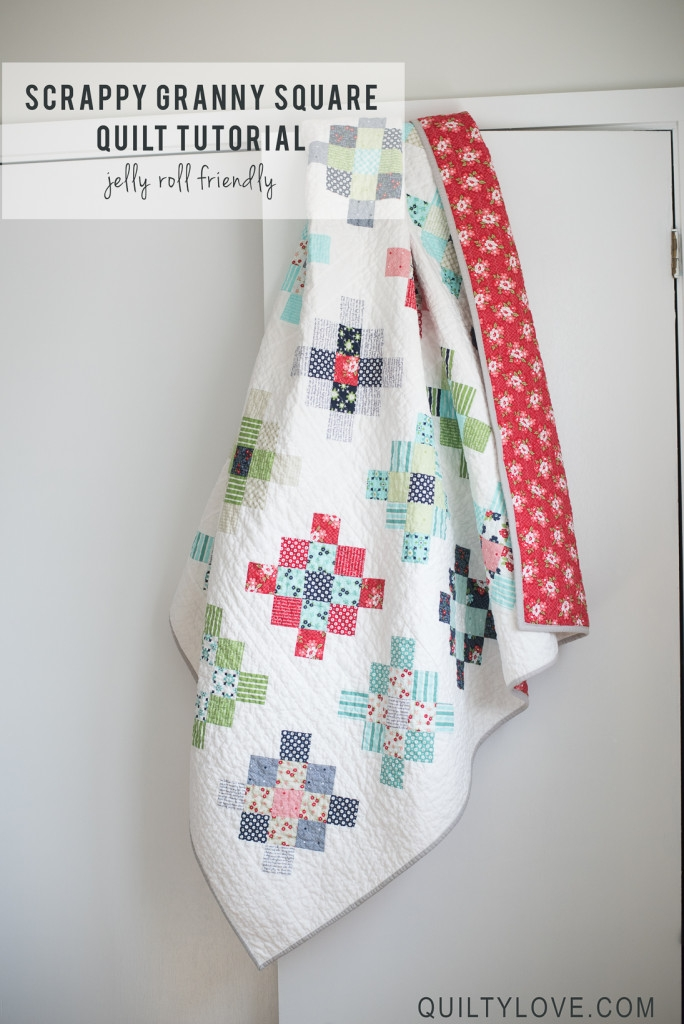 scrappy granny squares quilt tutorial quilty love Granny Square Quilt Block Pattern Gallery