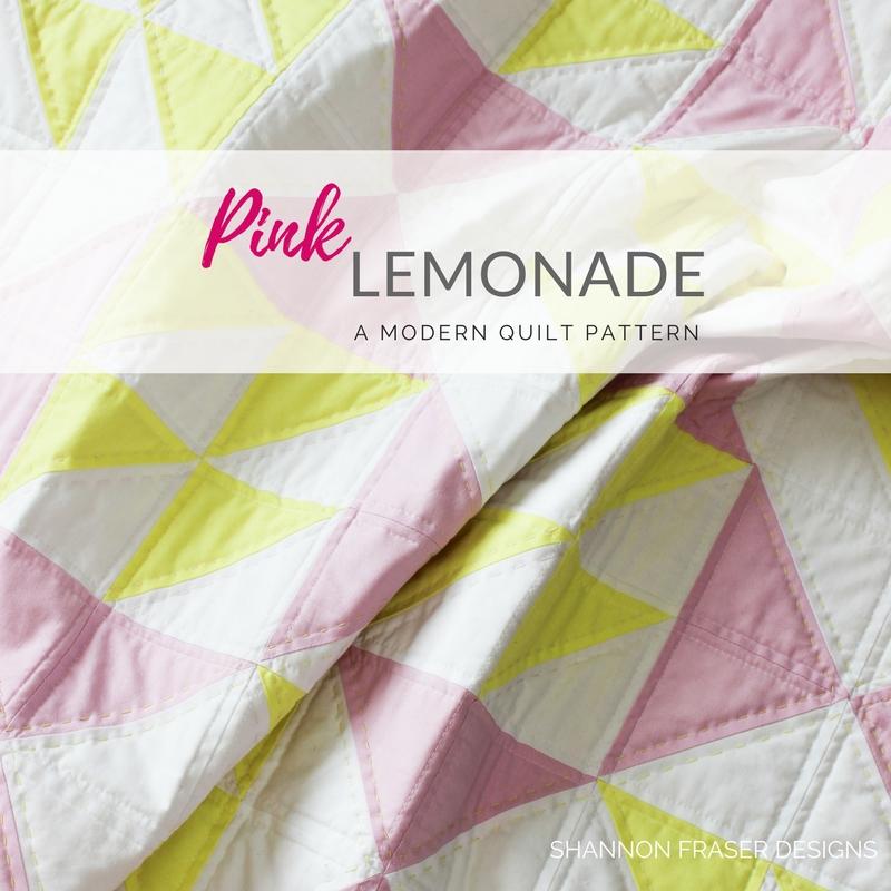 shannon fraser designs pink lemonade modern quilt pattern Elegant Pink Lemonade Quilt Pattern