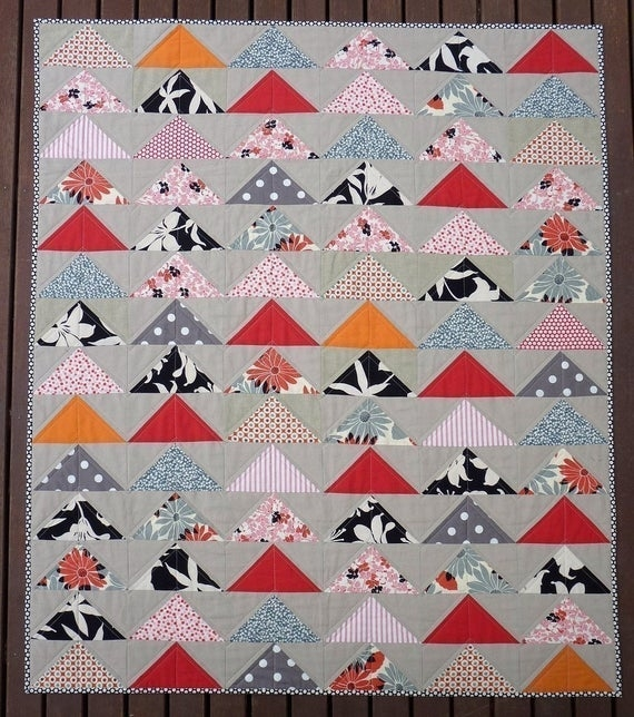 the modern flying geese quilt pattern pdf file immediate download Interesting Quilting Flying Geese Pattern Gallery