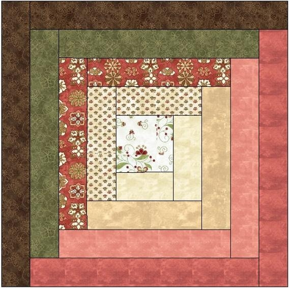 traditional log cabin quilt block pattern download Elegant Traditional Log Cabin Quilt Pattern Gallery
