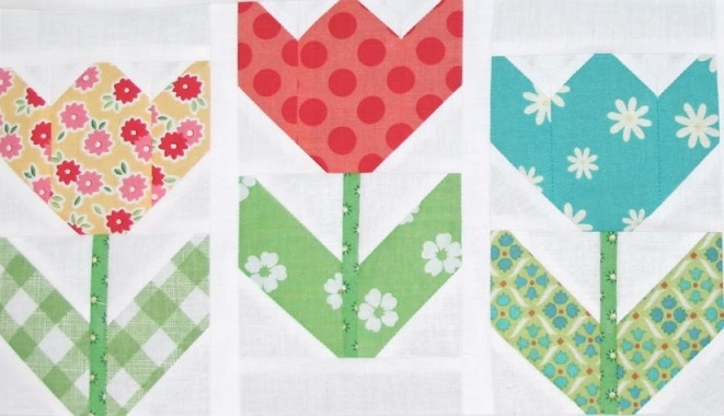 tulip quilt pattern free quilt patterns Make A Patchwork Tulip Quilt Block Patterns Gallery