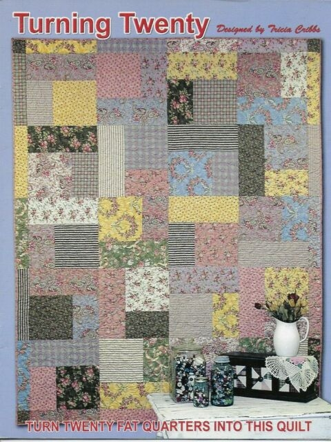 turning twenty quilt pattern fat quarters designed tricia cribbs friendfolks Cool Turning Twenty Quilt Pattern
