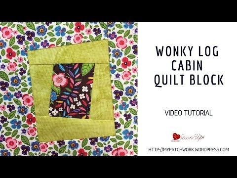 wonky log cabin quilt block video tutorial youtube Elegant Wonky Log Cabin Quilt Pattern