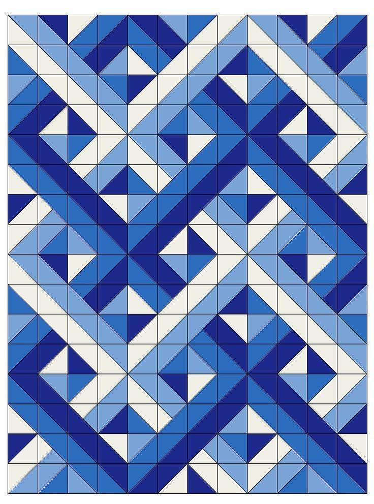 woven half square triangles optical illusion quilts Quilting Half Square Triangles